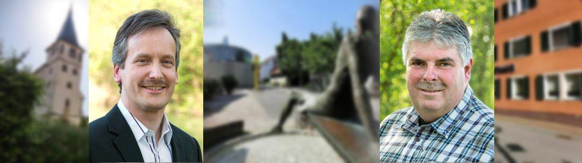 Unsere Gemeinderäte: Volker Schoch und Gerd Sommer
