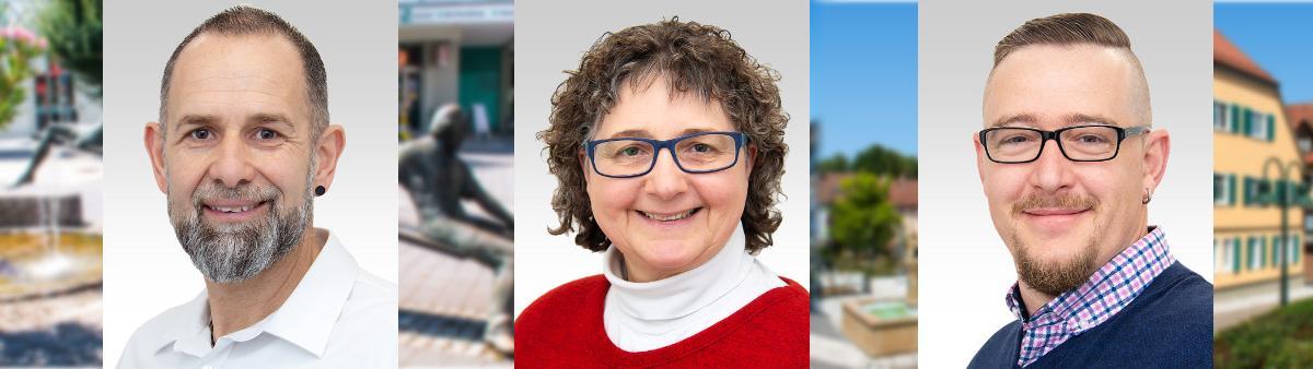 Gemeinderatswahl 2019: Toni Mirasola - Sabine Möller - Achim Schuh
